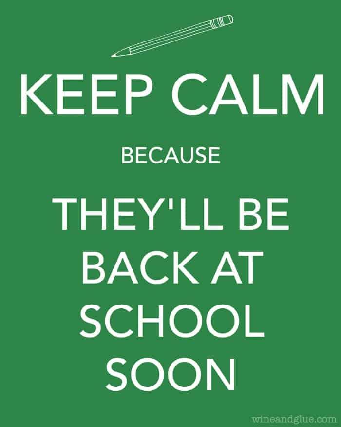 Back to school printable | wineandglue.com