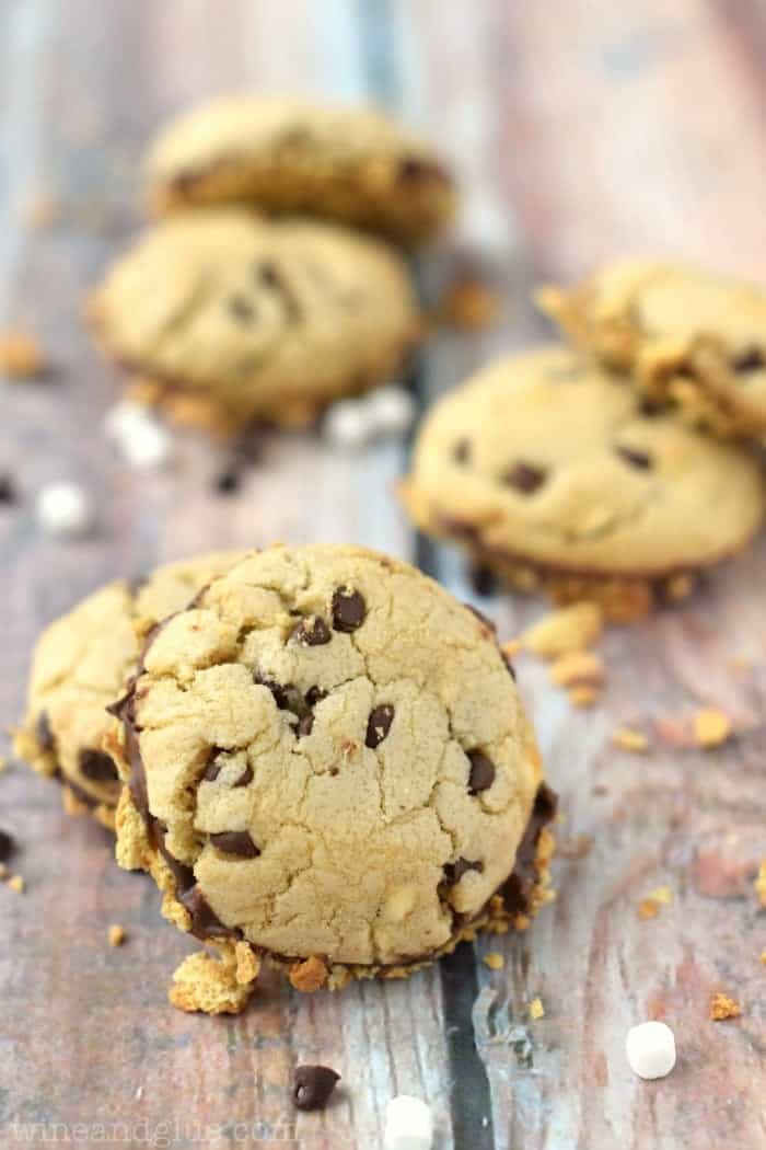 These Chocolate Dipped S'mores Cookies are the perfect summer treat without the campfire!