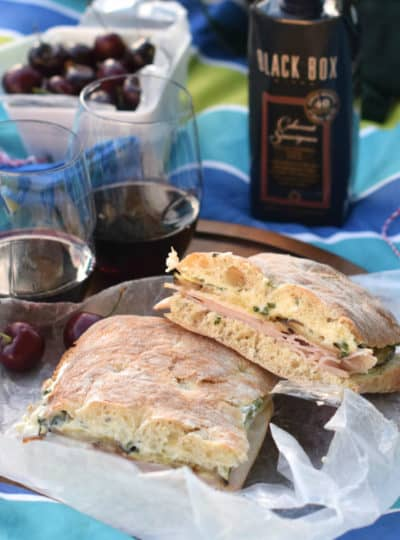 Turkey and Roasted Vegetable Sandwich with Basil Garlic Aioli