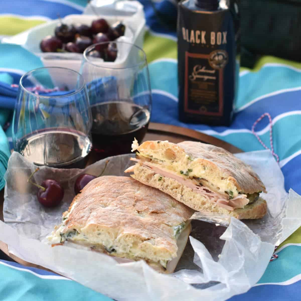 Turkey and Roasted Vegetable Sandwich with Basil Garlic Aioli