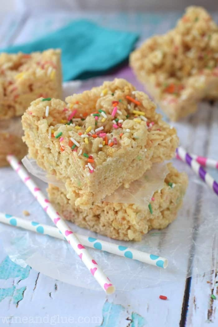 It doesn't get a whole lot better than combining the amazingness of cookies and cream, cake batter, and krispie treats!