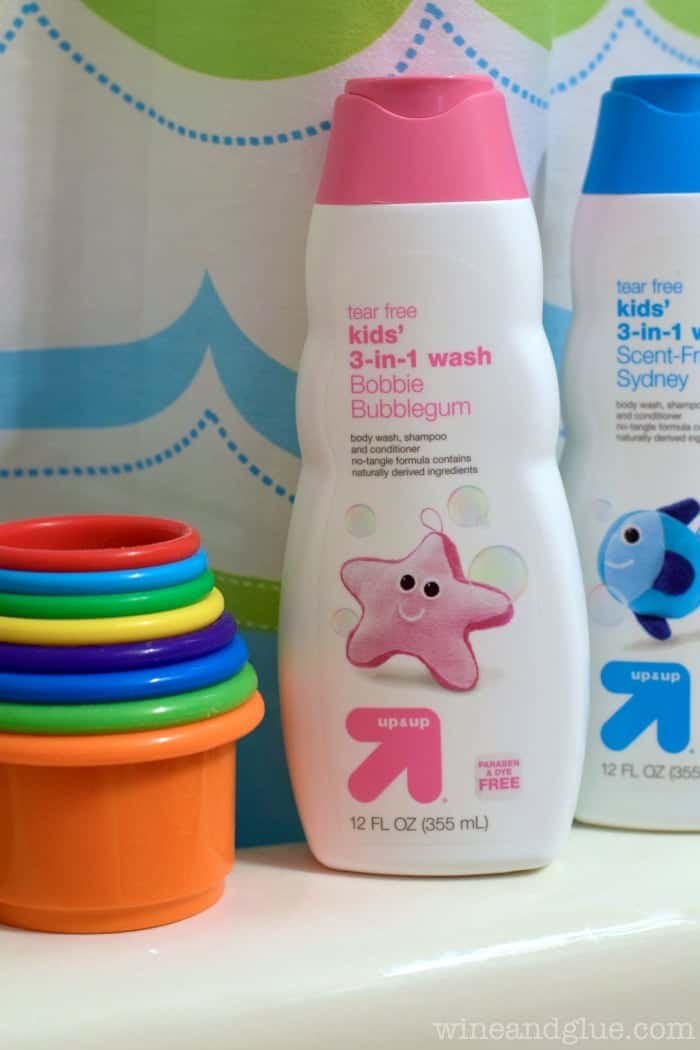 Up & Up Kids 3-in-1 Wash | www.wineandglue.com | Super affordable, but works amazingly well!
