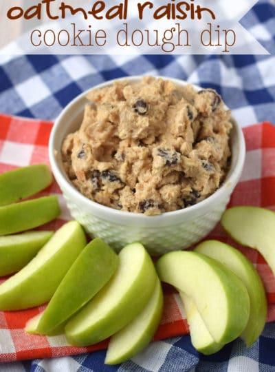 Oatmeal Raisin Cookie Dough Dip