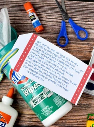 Back to School Printable:  An Easy Teacher Gift