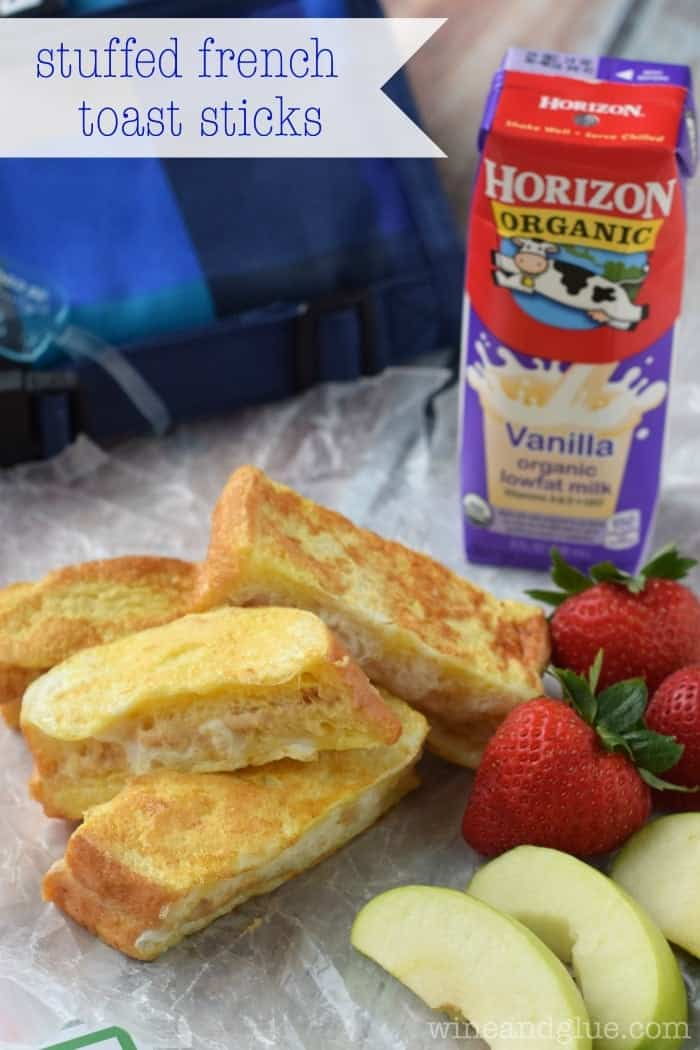 Stuffed French Toast Sticks | www.wineandglue.com | A super delicious lunch or breakfast!