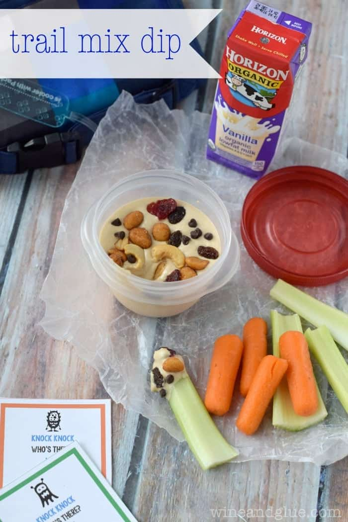 Trail Mix Dip | www.wineandglue.com | A fun twist on lunch!
