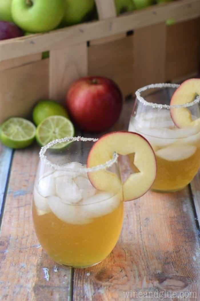 Apple Cider Margaritas - Wine & Glue