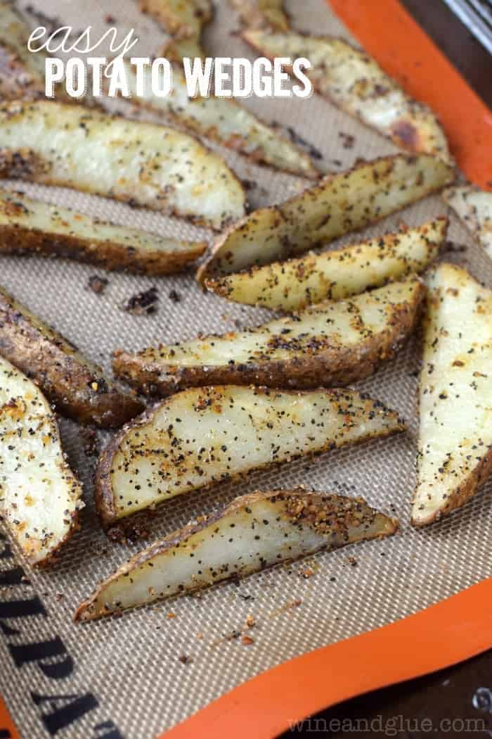 These Easy Potato Wedges come together so fast, and make such a great side dish for so many dinners!