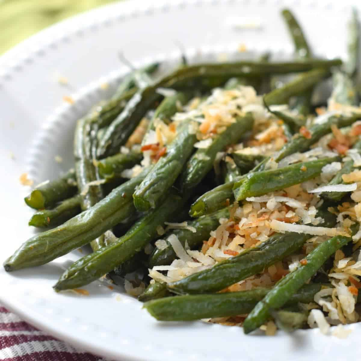 Toasted Coconut Green Beans