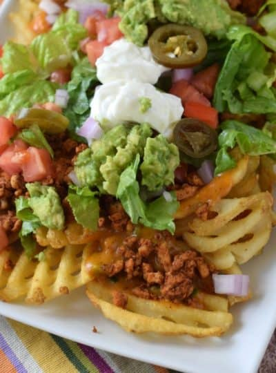 Waffle Fry Nachos