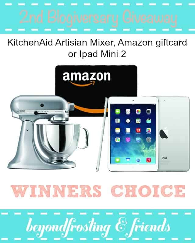 Win a KitchenAid Mixer, Amazon giftcard, or Ipad Mini!