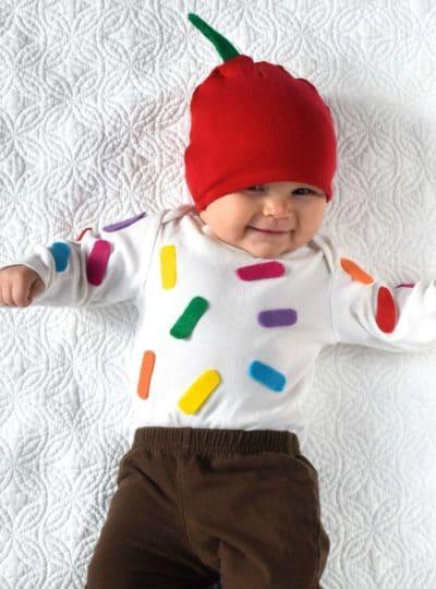 Easy Cupcake Baby Costume