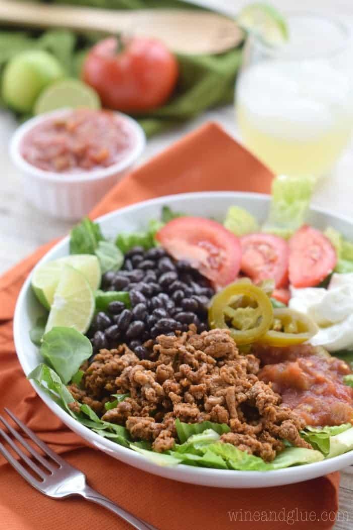 how to make taco salad healthy