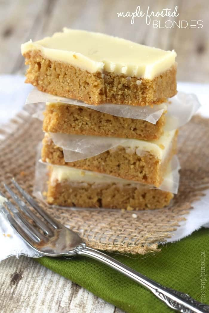 Maple Frosted Blondies