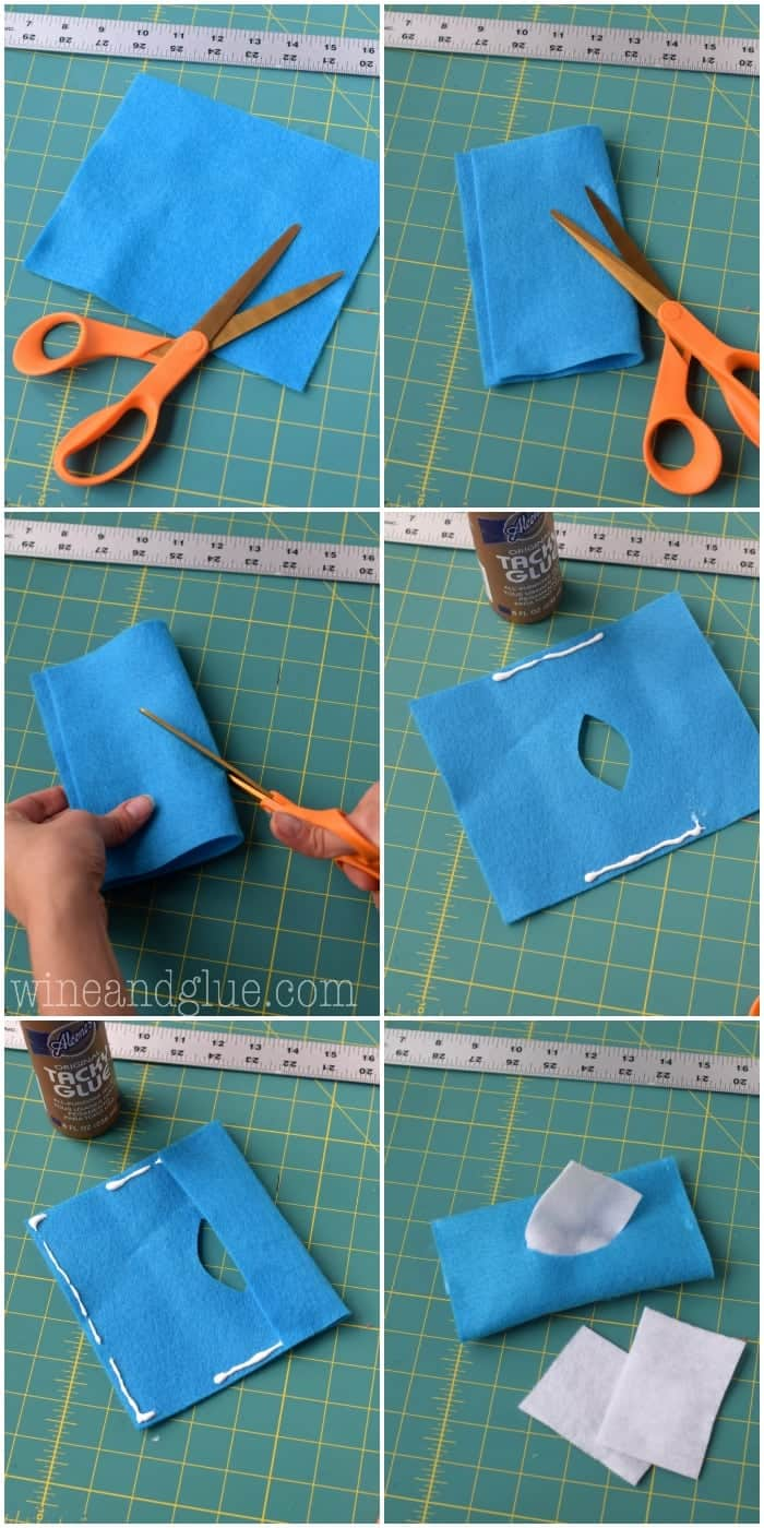 A photo tutorial and FREE pattern for a No Sew Doll Diaper Kit