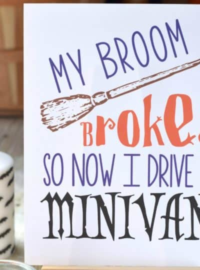 {Free} Halloween Printable: Trading Broomsticks for Minivans