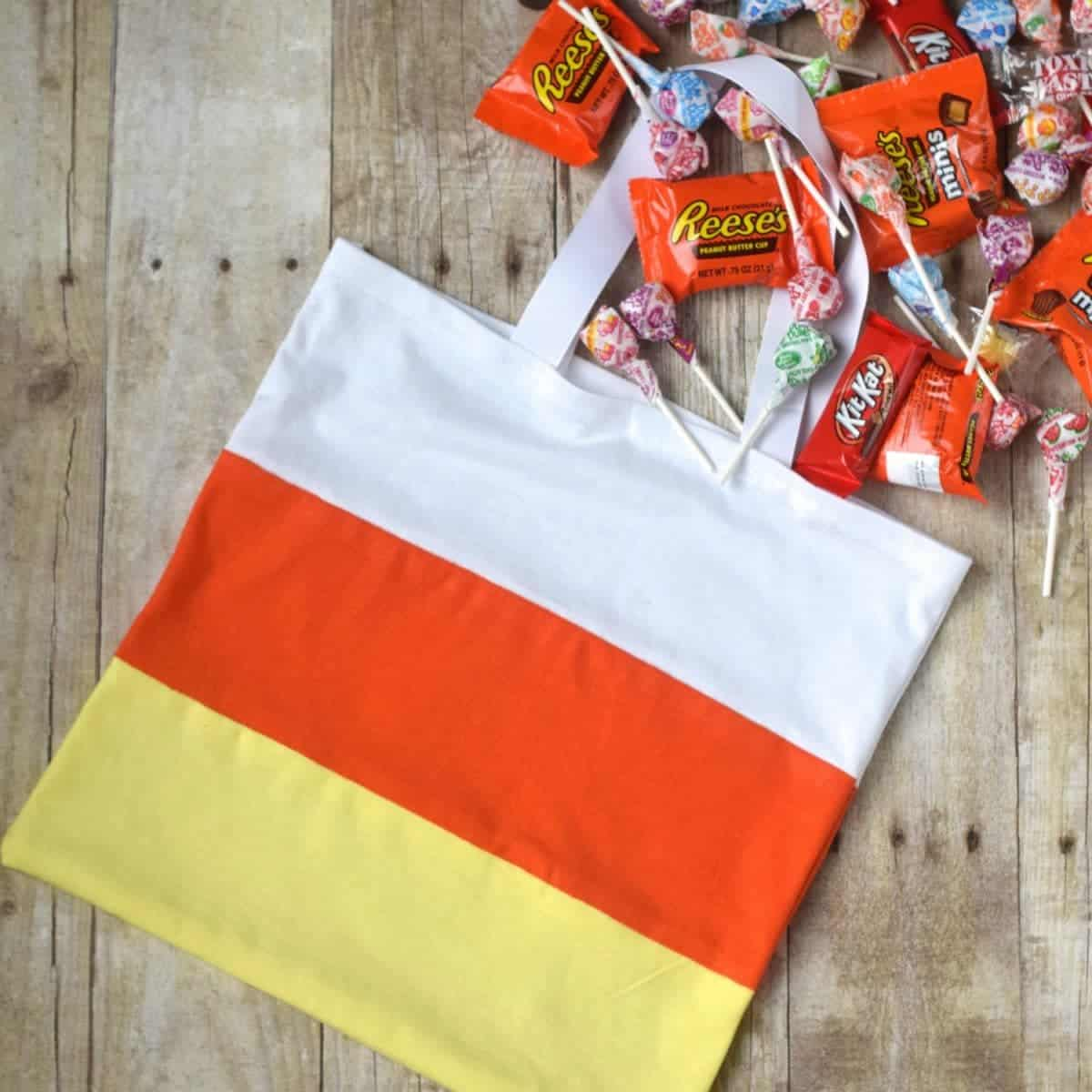 Dollar Store Candy Corn Treat Bag