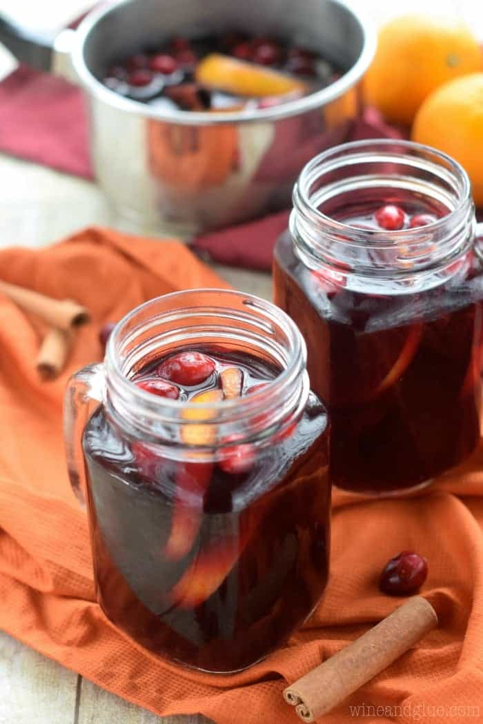This Cranberry Orange Mulled Wine is the perfect drink for your holiday party!