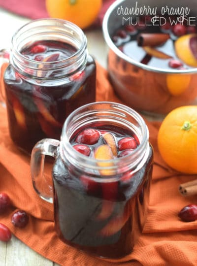 Cranberry Orange Mulled Wine & Thanksgiving Menu Blog Hop