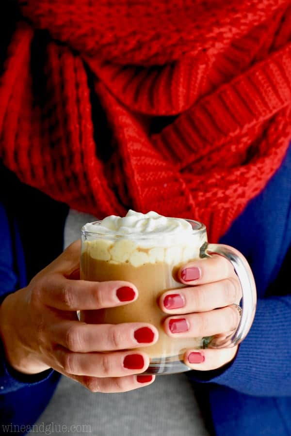Make yourself an Eggnog Latte at home!