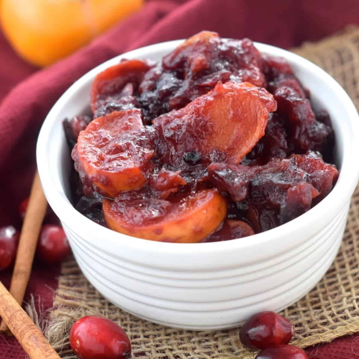 Crock Pot Persimmon Cranberry Sauce