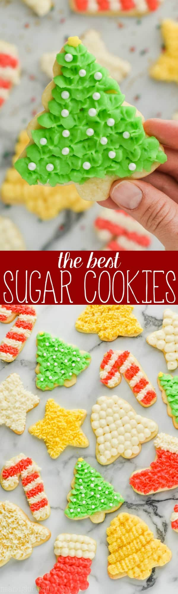 collage of pictures of the best soft cut sugar cookies