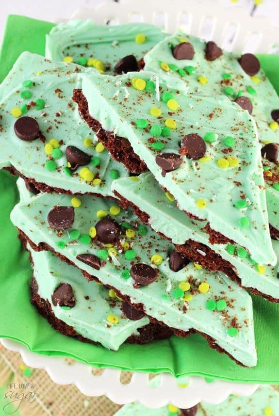 Mint Chocolate Brownie Brittle Bark