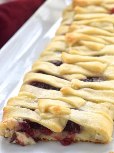 Cranberry Brie Crescent Braid
