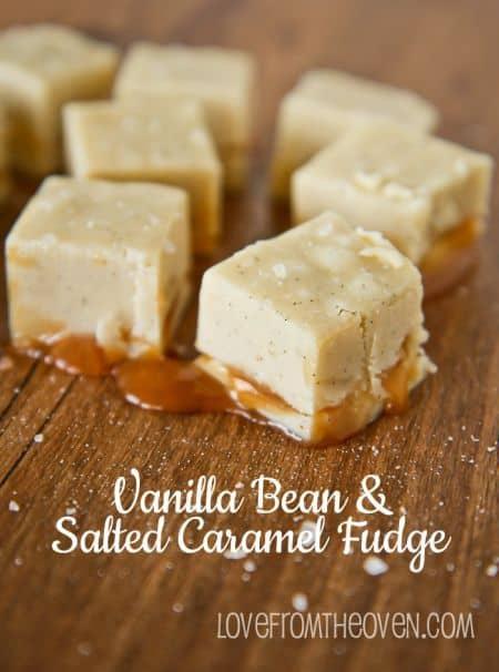 Vanilla Bean & Salted Caramel Fudge