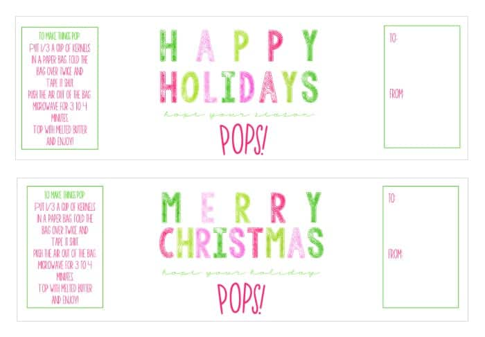 This {Free Printable} doubles as an easy neighbor and teacher gift! Just add a little popcorn!