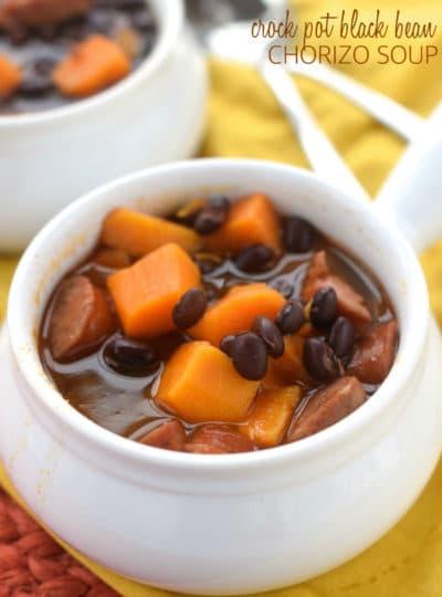 Crock Pot Black Bean Chorizo Soup