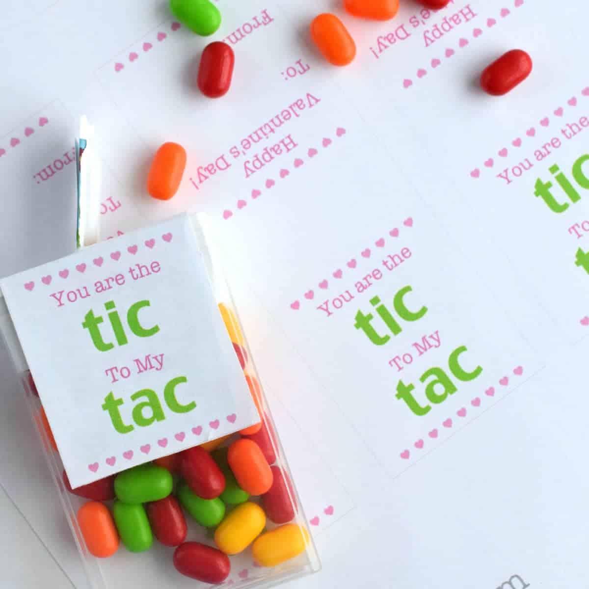 Free Tic Tac Valentine Printable
