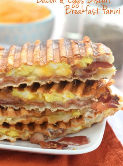 Bacon and Eggs Biscuit Breakfast Panini