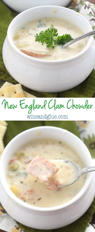 New England Clam Chowder Recipe   Wine & Glue