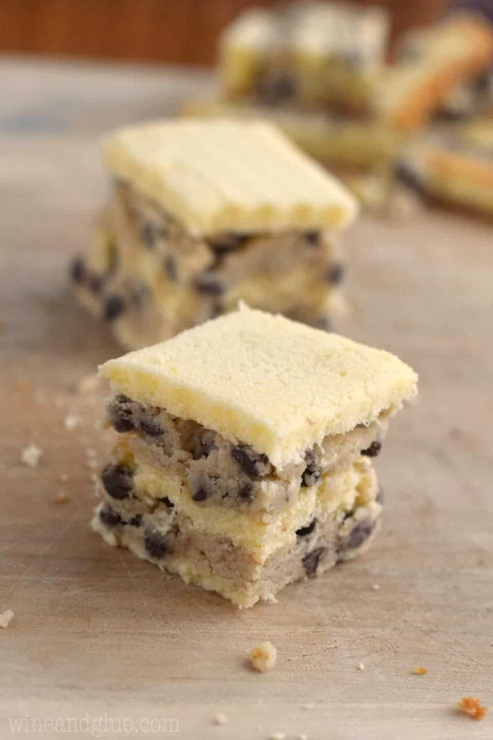 These Cookie Dough Stuffed Petit Fours are a no bake little treat that are pretty enough not to eat but too delicious to only have one!