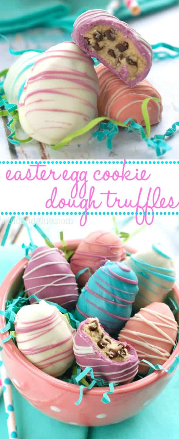 These Easter Egg Cookie Dough Truffles are beautiful on the outside and irresistibly yummy on the inside!