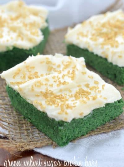 Green Velvet Sugar Cookie Bars