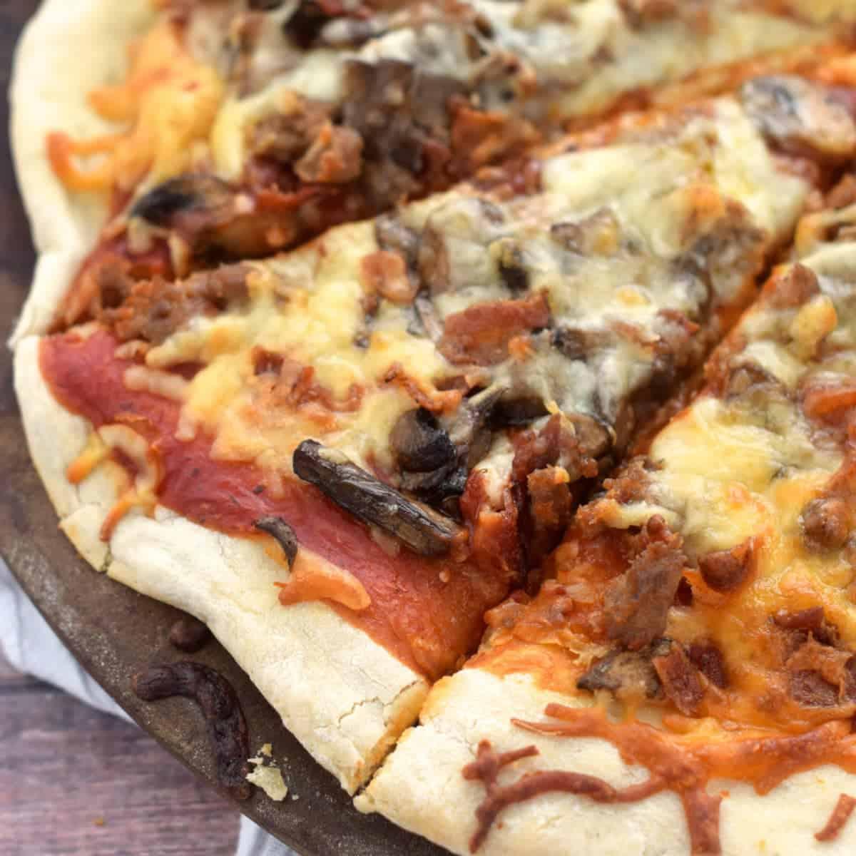 Mushroom Meat Lover's Pizza