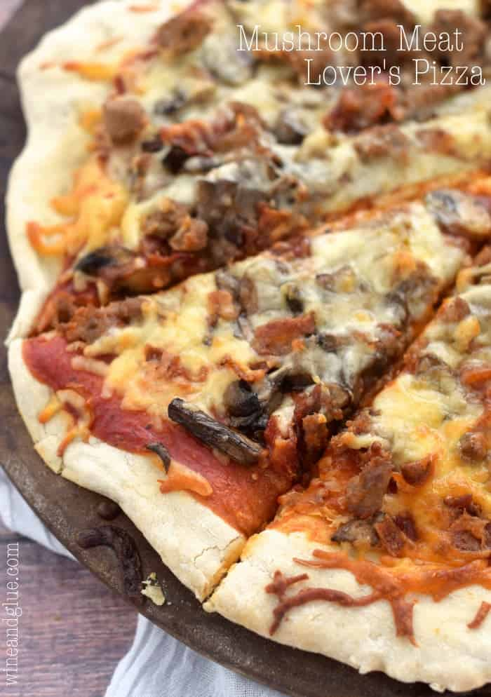 My husband described this Mushroom Meat Lover's Pizza as one of the best he's ever had, if you love bacon, you will love this pizza!