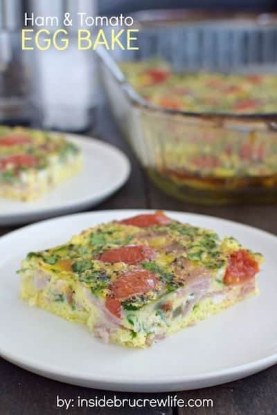Ham and Tomato Egg Bake