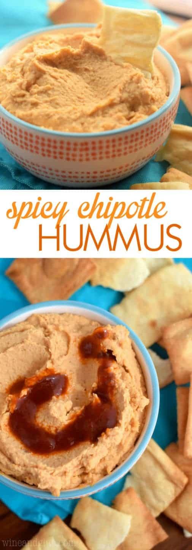 Spicy Chipotle Hummus - Wine & Glue