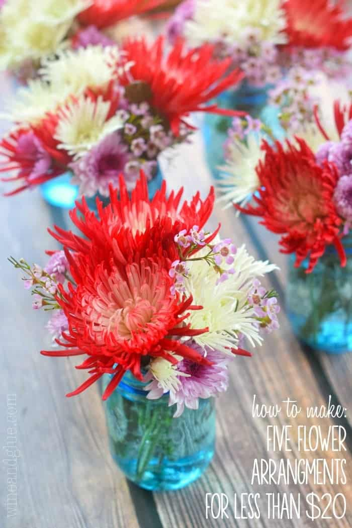 Twenty dollars use them as centerpieces for a party decorate your home