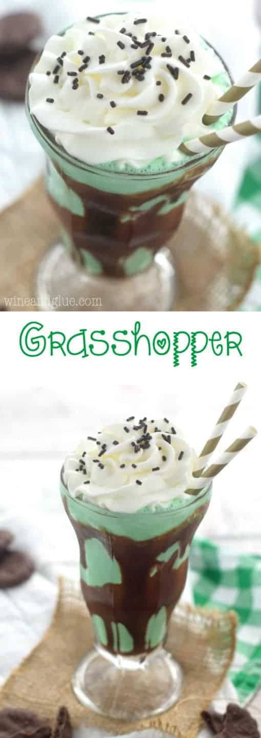 This Grasshopper is full of mint and chocolate flavor, a milkshake for grownups!