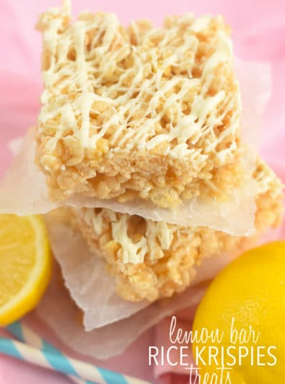 Lemon Bar Rice Krispies Treats