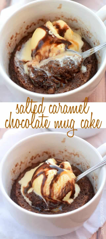 Salted Caramel Chocolate Mug Cake Wine Amp Glue