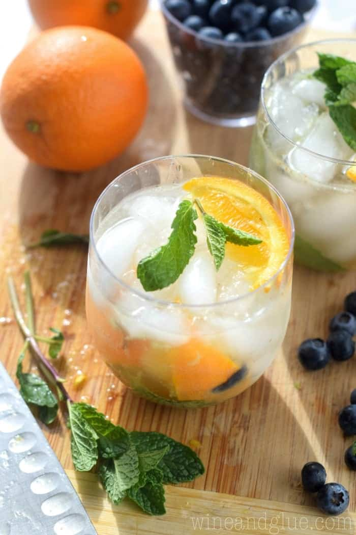 Skinny Orange Blueberry Mojito