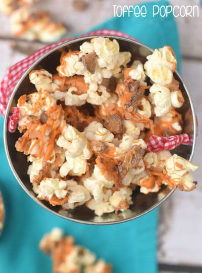 Butterscotch Toffee Popcorn