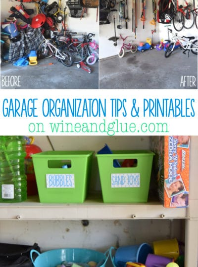 Garage Organization Tips and Printables