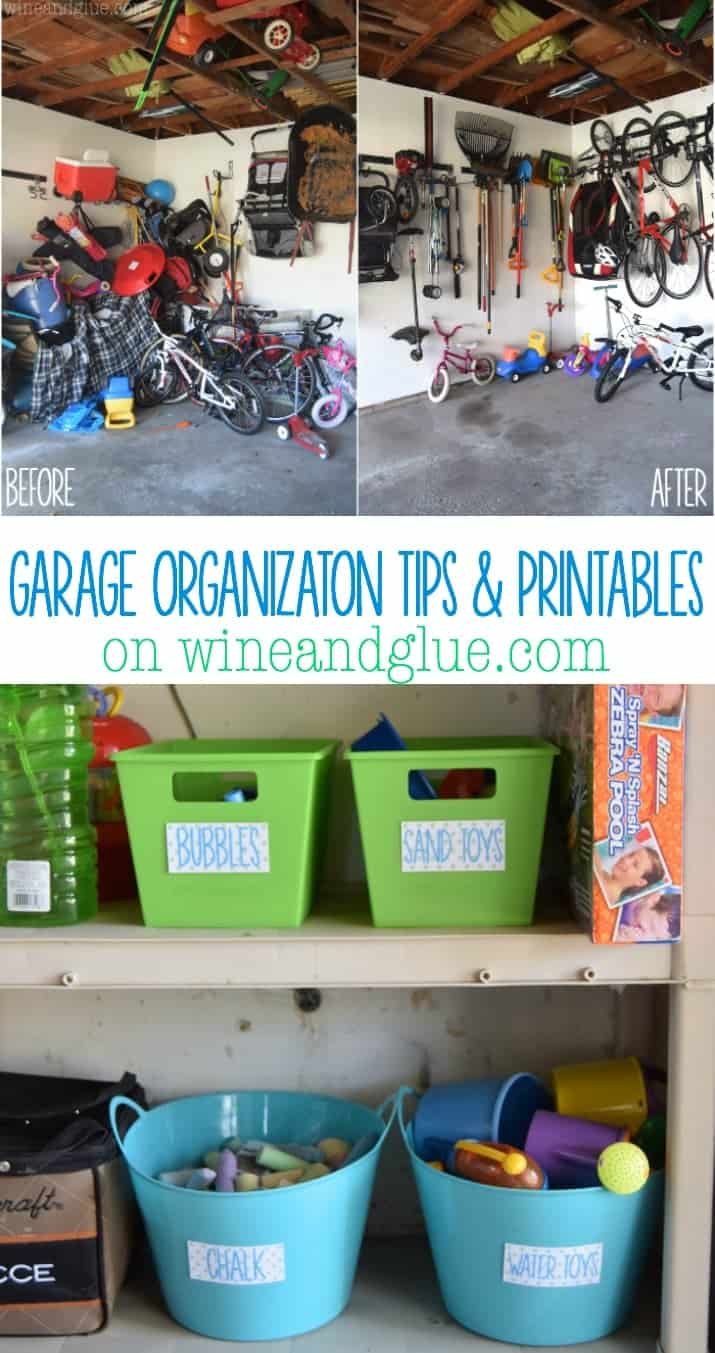 Garage Organization Tips and Printables