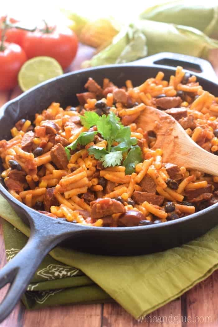 This Southwestern Skillet Mac is such an easy weeknight dinner and packed with flavor!